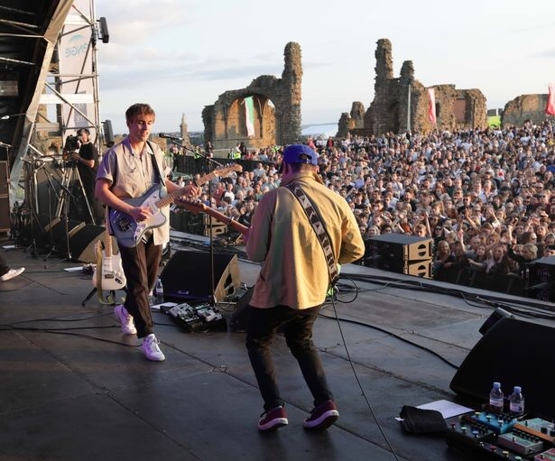 Sam Fender, Sam Fender performing, Sam Fender Tynemouth, Sam Fender mouth of the Tyne festival, Tynemouth festival, Tynemouth music festival, mouth of the Tyne festival 2019, mouth of the Tyne festival Tynemouth, Tynemouth priory music festival, Sam Fender performs in tynemouth